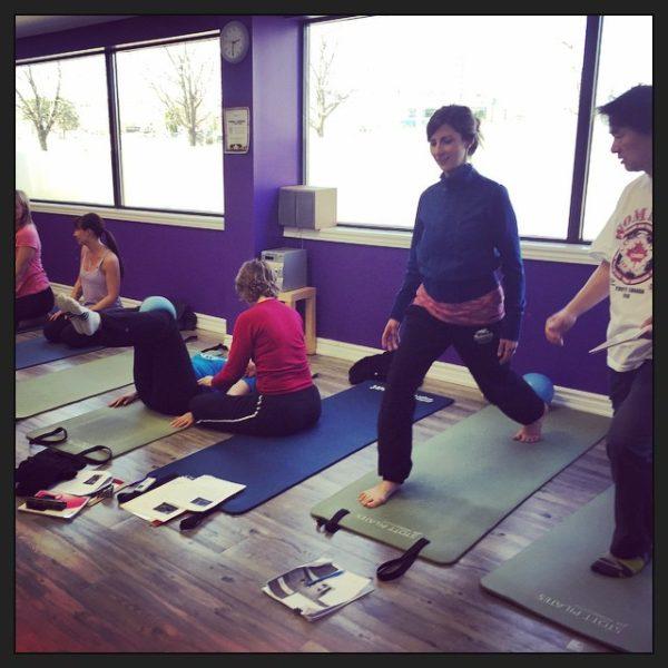 peterborough yoga instructor stephanie reynolds taking pelvic floor pilates training