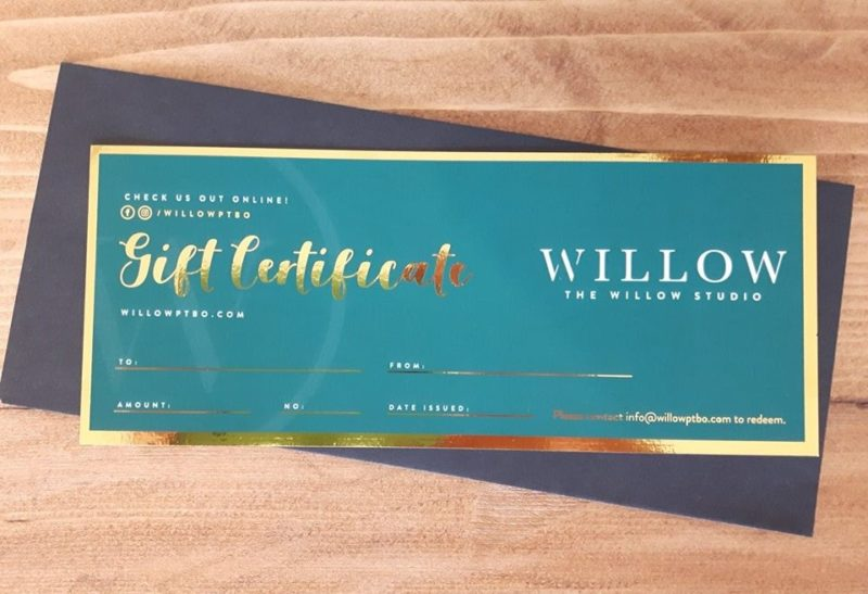Willow Studio gift card